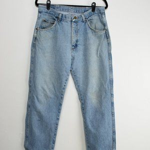 90s Vintage Light Wash Wranglers